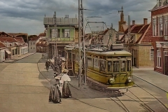 gele-tram-katwijk-